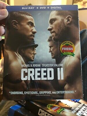 NEW - Creed II 2 (Blu-Ray + DVD + Digital)  w/Slipcover