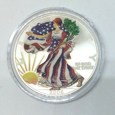 2006 Beautifully Painted American Silver Eagle 1 Oz. .999 Fine