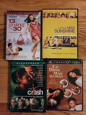 DVD Little Miss Sunshine, 13 Going on 30, Crash, Eat Drink Man Woman Lot of 4