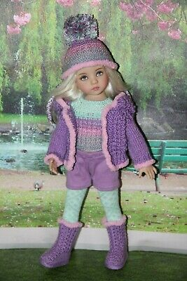 "Outfit FOR Dianna Effner 13"" Little Darling Dolls= Jacket Hat Boots 6-piece =NEW"