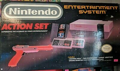 Nintendo Entertainment System Console w/ ZAPPER Action Set In-Box open play test