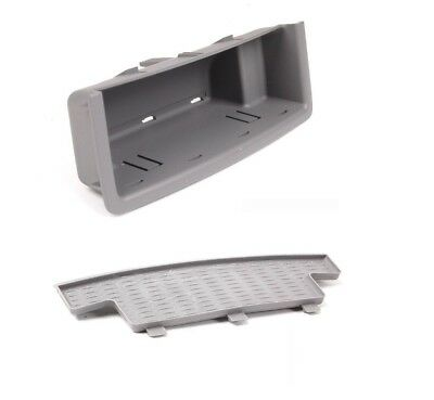 New Genuine BMW 3 E90 E91 Set Of Rear Center Console Grey Insert With Foam OEM