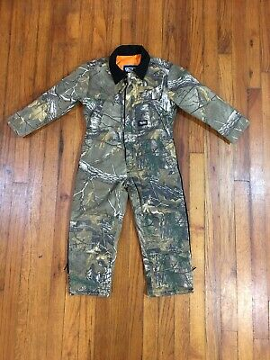 c5f00e72d7253 WALLS Kidz Grow System Boys Camo Insulated Coveralls Youth Size X-Small XS  VGC