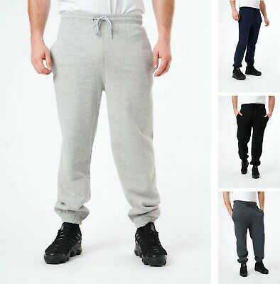 Mens Jogging Bottoms Elasticated Joggers Casual Plain Sweat Pants Trousers S-5XL