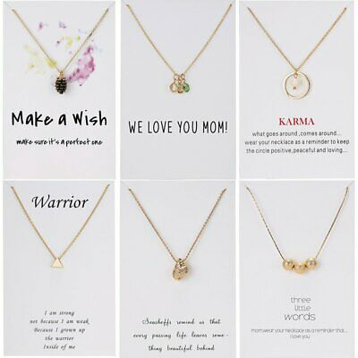 Fashion Women Paper Card Pendant Necklace Gold Clavicle Choker Short Chain Gift