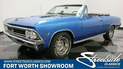 1966 Chevelle SS 396 classic chevy ss 396 big block manual muscle car blue convertible