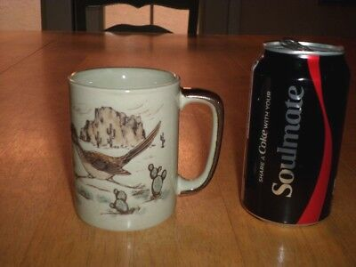 ROAD RUNNER BIRD, [3-D] GRAPHICS, Ceramic Coffee Mug / Cup, VINTAGE JAPAN 1960's