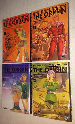 Manga: Gundam The Origin Tomes 1 à 4 VF Pika Rare