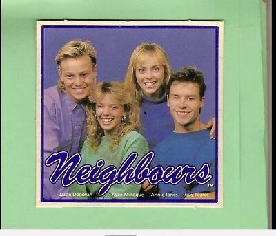 1987 Neighbours Lucky Letters MAIN CAST STICKER NEW IN UNOPENED PACK
