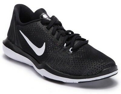8e0128d5c26e7 Nike Womens Flex Supreme TR5 Cross Training Shoes Black White 852467-001  Size 12