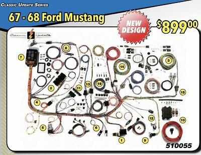 new design 1967 1968 ford mustang wire wiring harness american autowire 510055 1968 ford ignition switch diagram