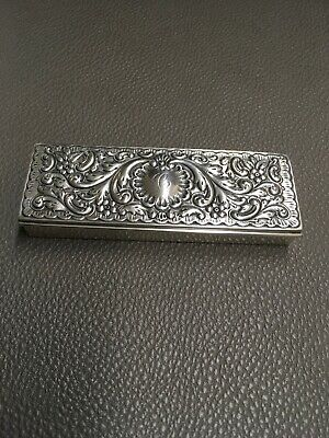 Theodore B Starr Antique Monogrammed (C) Sterling Silver Stamp Box