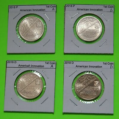 2018  P&D Pos A&B 4 Coin $1 American Innovation Set - Introductory Coin