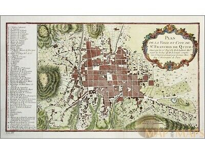 Francois De Quito Old Town Plan Quito Ecuador Bellin 1754