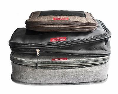 Compression Packing Cubes Luggage Organizers for Travel W/Double Zipper.