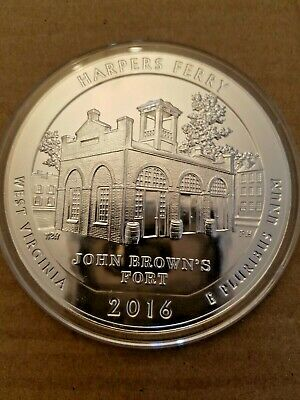 2016 5 oz Silver ATB Harpers Ferry National Park Coin