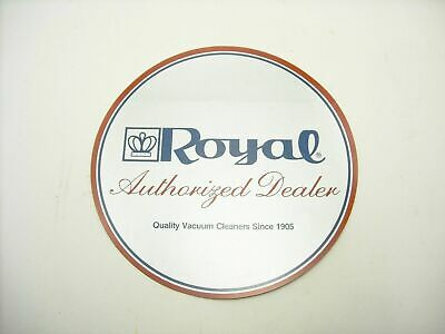 Vintage Royal Vacuum Cleaner Double Sided Store Door Sticker
