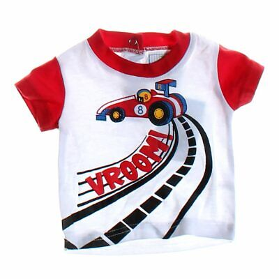 Duck Duck Goose Baby Boys Shirt, size NB,  red, white,  cotton, polyester