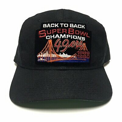 2c5ba58f VTG 1989-90 San Francisco 49ers Back To Back Super Bowl Champions Snapback  Hat