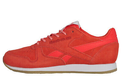ee2478f740c Reebok Classic Leather Crepe Sail Away Women s Retro Casual Trainers Coral