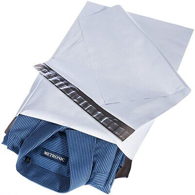 """50 BAGS - 12"""" x 16"""" STRONG MAILING POSTAGE BAGS WHITE POSTAL QUALITY SELF SEAL"""