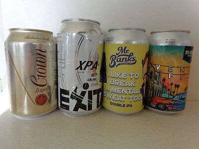 CROWN LAGER 330ML, Mr BANKS's VENICE PILSNER & DOUBLE IPA & EXIT'S XPA BEER CANS