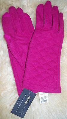 New with tags ECHO TOUCH Quilted Woolen blend Gloves from TALBOTS  Size L/XL