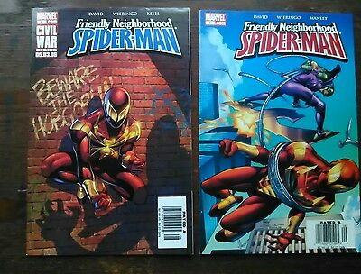 Friendly Neighborhood Spider-Man #8 and #9 Two Issue Spiderman Comic Lot