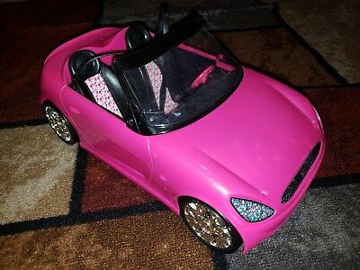 Mattel Barbie Doll Glam Auto Pink Convertible Car 2009