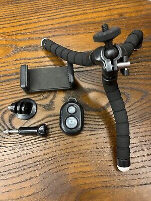 ubeesize  tripod mini flexible wireless remote stand s camera and phone portable