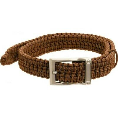 New Timberline Coyote Tan Paracord Survival Belt-Large