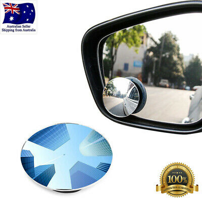 Blind Spot Mirror x2 Rimless Ultra HD Glass Wide Angle 360° Rear View Adjustable