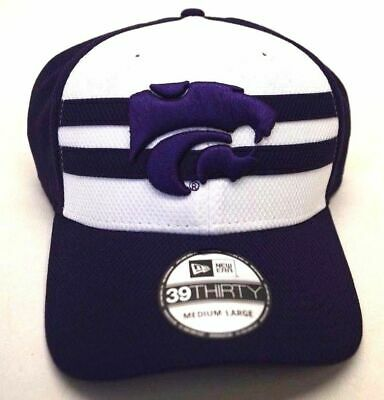 add5209f79a NEW! Men s New Era Kansas State Headwear 39Thirty Multicolor M-L  Stretch-Fit Cap