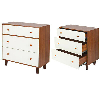 3 TIERS NIGHT Stand Bedside Table Storage Cabinets Unit ...