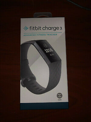NEW Fitbit Charge 3 Heart Rate Fitness Band Activity Tracker - Graphite/Black
