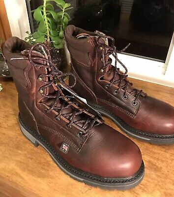 "5db9429ebad THOROGOOD AMERICAN HERITAGE 8"" Work Boots Mens 10 Job Pro Safety Toe  804-4204"