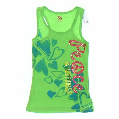 SO Girls Tank Top size 10,  green,  cotton, polyester