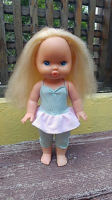 "Vtg 1988 Lil Miss Makeup Doll Mattel13"" Blonde Hair Blue Eyes Made In Mexico"