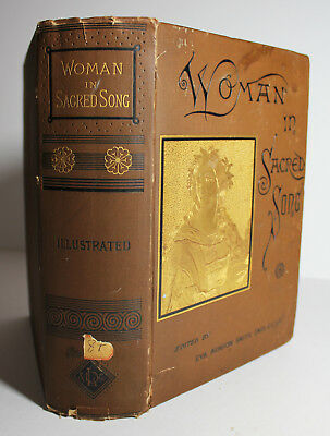 Antique 1885 WOMAN IN SACRED SONG Hymns Religious Poetry Christian Music Women