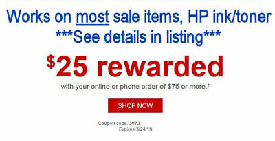 Staples $25 off $75 coupon Exp 3/24/19 - Works on most SALE items & Ink/Toner