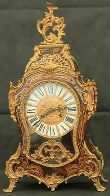 Vintage Louis Xvi Style 8 Day Ormolu Boulle Type Rococo Mantle Bracket Clock