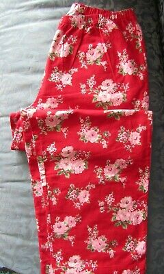 New Womens Charter Club Intimates Floral Print Flannel Pajama Pant  Size Xl