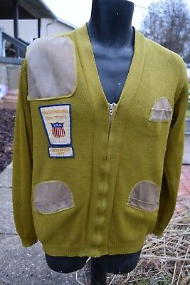 Vintage NRA International Team; Shooting; Rifle; NRA; US Olympic Sweater; Size M