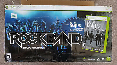 Xbox 360 Beatles Rock Band Special Value Edition Guitar Drums Game & Mic (X122)