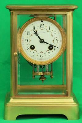 Tiffany & Co French 8 Day Four Glass Crystal Regulator Clock Numbered 4476 3.11