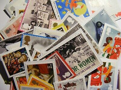100 1st class xmas mixed stamps unfranked   (lot 2422)