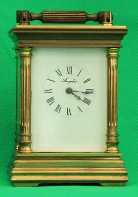 L'epee Vintage French 8 Day Timepiece Miniature Valentini Angelus Carriage Clock
