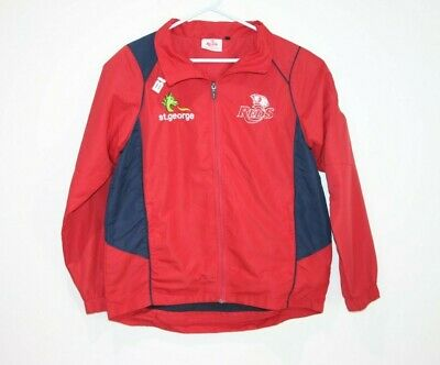 BLK Queensland Reds Jacket Full Zip Men's Size Small Rugby Union QLD