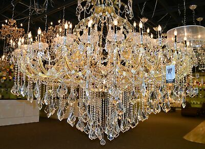 "SALE Maria Theresa 49 Light Gold Finish Crystal Chandelier 72""x60"" Large"