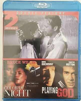 The Color of Night/Playing God (Blu-ray Disc, 2012) New/Sealed